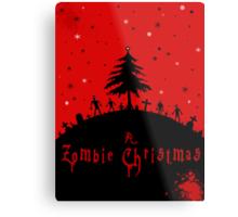 A zombie Christmas Metal Print