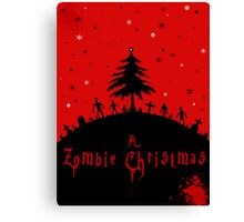 A zombie Christmas Canvas Print