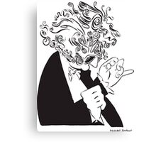 Mr. Falker Ink Portrait Canvas Print