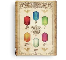 Legend of Zelda The Rupees Geek Line Artly Metal Print