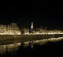 River Arno by Gursimran Sibia