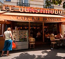 Cafe Quasimodo Paris by JD Dorosiewicz