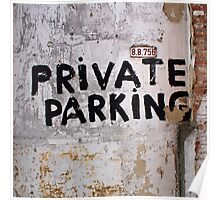 Private Parking Poster