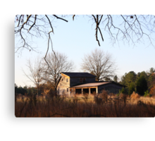 Field House In Fall Canvas Print