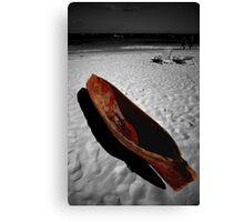 Red Paddle Boat, Playa Del carmen, Mexico Canvas Print