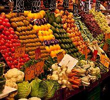 Fruit Stand, La Boqueria Market, Barcelona by Tomas Abreu