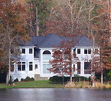 House On The Lake North Carolina by Jonathan  Green
