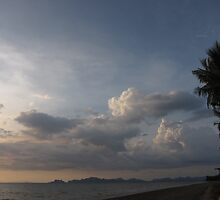 Seaside Storm In The Distance. by vonb