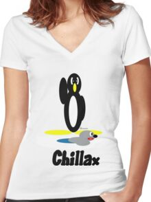 Chillax Women's Fitted V-Neck T-Shirt