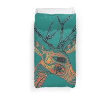 Tribal Deer © feathers & eggshells - wild new things are born Duvet Cover