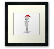 character 3d Christmas ok Framed Print