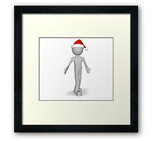 character 3d Christmas Framed Print