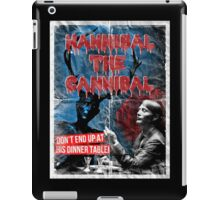 Hannibal the Cannibal - Vintage B-Movie Poster iPad Case/Skin