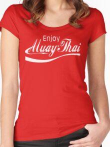 Enjoy Muay Thai  Women's Fitted Scoop T-Shirt