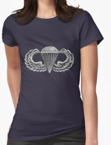 Army Parachute Wings Womens Fitted T-Shirt
