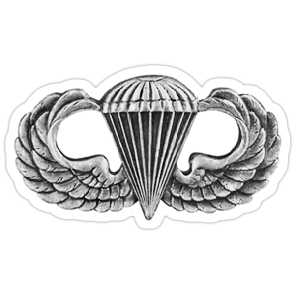 Army Parachute Wings by Walter Colvin