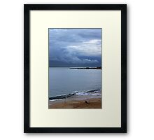 fisherman and the clouds... Framed Print