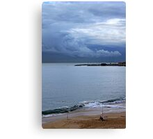 fisherman and the clouds... Canvas Print