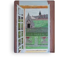 Louisbourg Window Canvas Print