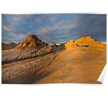 Sunset at Lake Mungo 2 Poster