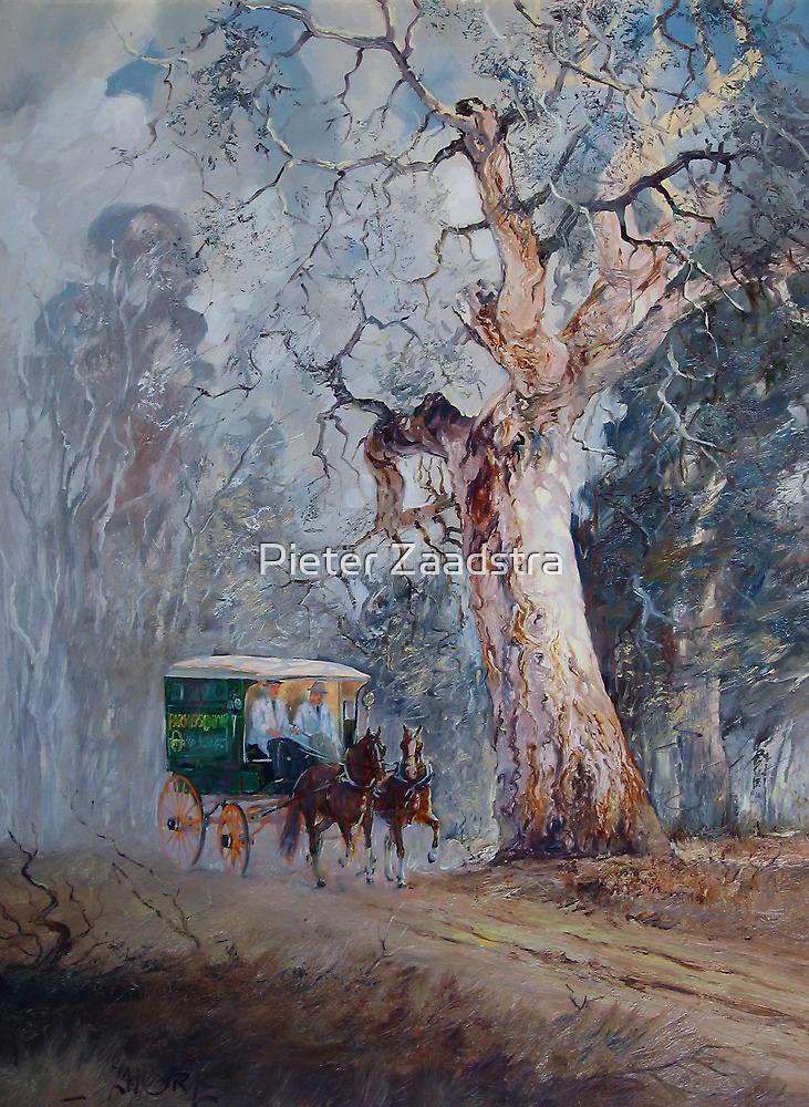 Gum Tree Delivery Van - Australian Landscape by Pieter  Zaadstra