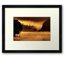 Loch Ard, morning light and mist.. Framed Print