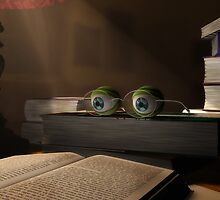 Eyes in a Book - 3D Sculpture Image by Sarah Hess