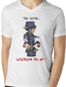detective bottombee: the victim... or the murderer? (flip edition) Mens V-Neck T-Shirt