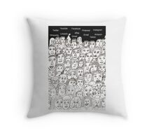 Mass Communication Throw Pillow