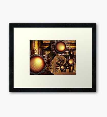 The rise of Sun Machine Framed Print