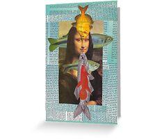 fish lisa card Greeting Card