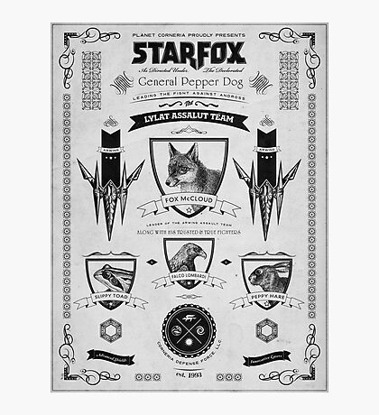 Star Fox Nintendo Vintage Poster Photographic Print