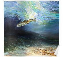 The Fly Taker - Underwater Scene Poster