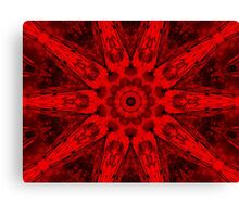 Holiday Red Kaleidoscope Canvas Print