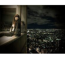 The girl and the metropolis Photographic Print