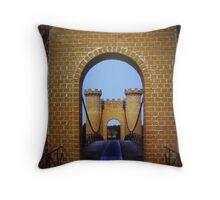 Ida Grove Castle Bridge (Iowa) Throw Pillow