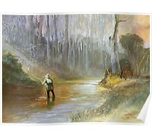 The Practised Eye - Fishing the Timbered Waterhole Poster