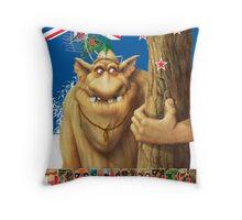 George a rock troll Throw Pillow