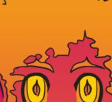 Red and Orange Demon Sticker