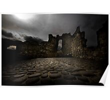 Ruins Of Dunluce Poster