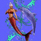 A Little Tenderness .. mermaid and dolphin  by LoneAngel