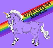 """""""Unicorns Rock"""" Fabulous Rainbow Unicorn by Muninn"""