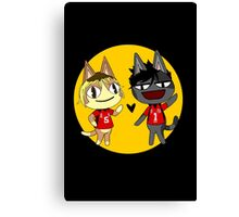ACNL and Haikyuu Kenma & Kuroo Cross Over  Canvas Print