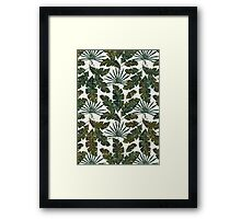 Summer Holidays | Olive Green Framed Print