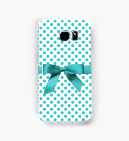 Blue Tiffany Polkadot Ribbon Samsung Galaxy Case/Skin