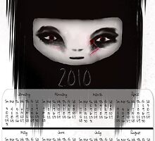 Little Scary Doll Wall Calendar by gina1881996