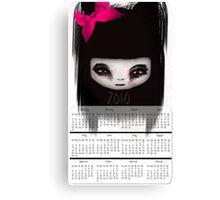 Little Scary Doll Wall Calendar Canvas Print