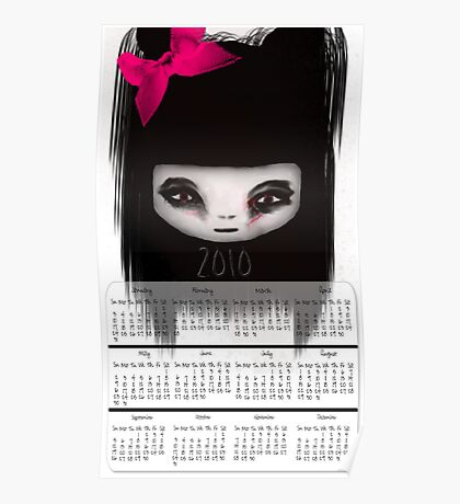 Little Scary Doll Wall Calendar Poster