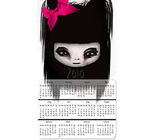 Little Scary Doll Wall Calendar Photographic Print