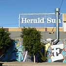 Street Art and Sign, Laverton by Joan Wild